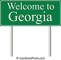 Welcome to Georgia, concept road sign