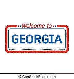 Welcome to GEORGIA of US State illustration design