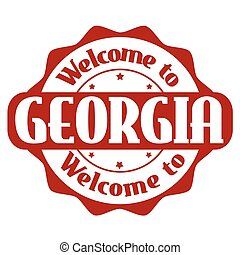 Welcome to Georgia sign or stamp