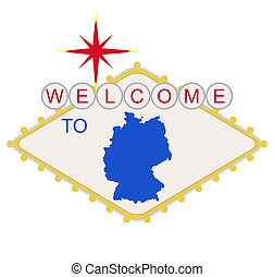 Welcome to Germany sign
