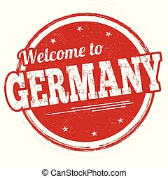 Welcome to Germany sign or stamp