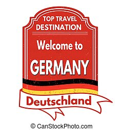 Welcome to Germany stamp