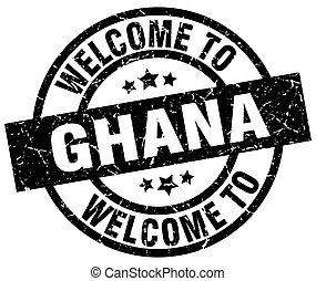 welcome to Ghana black stamp