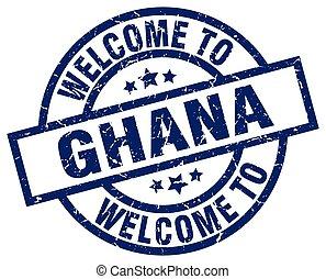welcome to Ghana blue stamp