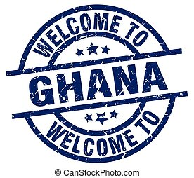 welcome to Ghana blue stamp