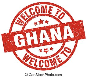 welcome to Ghana red stamp