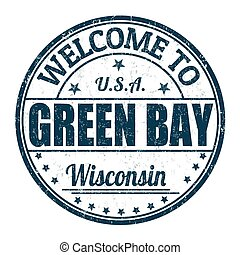 Welcome to Green Bay stamp