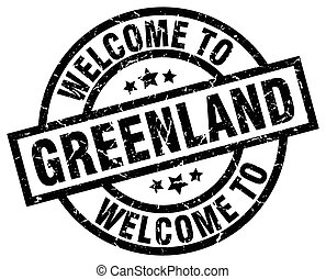 welcome to Greenland black stamp