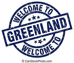 welcome to Greenland blue stamp