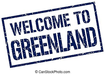 welcome to Greenland stamp