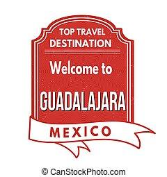 Welcome to Guadalajara stamp