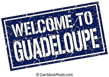 welcome to Guadeloupe stamp