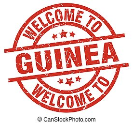 welcome to Guinea red stamp