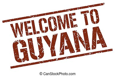 welcome to Guyana stamp