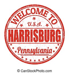 Welcome to Harrisburg stamp