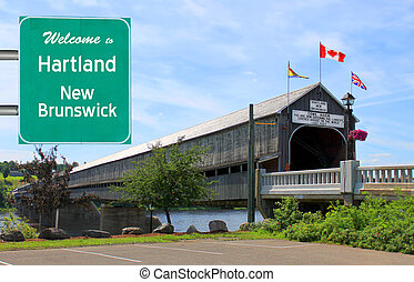 Welcome to Hartland sign - Welcome to Hartland, New...