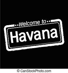 Welcome to Havana city illustration design