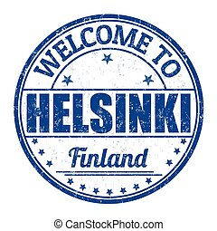 Welcome to Helsinki stamp