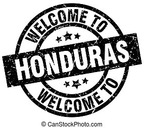 welcome to Honduras black stamp