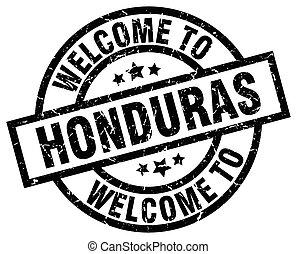 welcome to Honduras black stamp