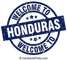 welcome to Honduras blue stamp