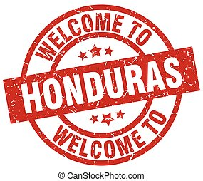 welcome to Honduras red stamp
