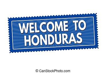 Welcome to Honduras sticker or stamp