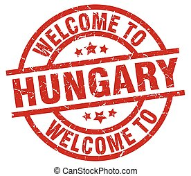 welcome to Hungary red stamp