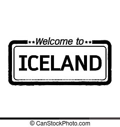 Welcome to ICELAND illustration design