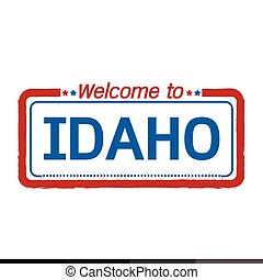 Welcome to IDAHO of US State illustration design