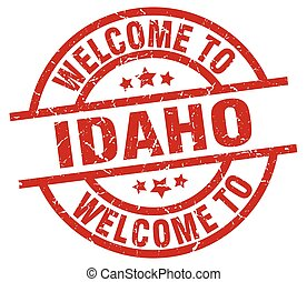 welcome to Idaho red stamp