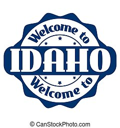Welcome to Idaho sign or stamp