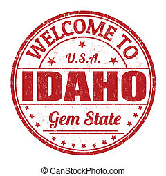 Welcome to Idaho stamp