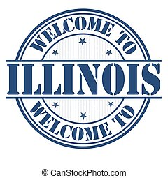Welcome to Illinois sign or stamp