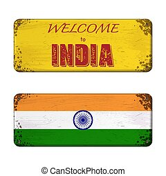 Welcome to India nameplate