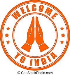 Welcome to India round label