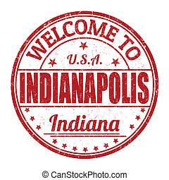Welcome to Indianapolis grunge rubber stamp on white background, vector illustration