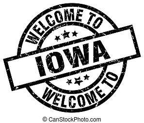 welcome to Iowa black stamp