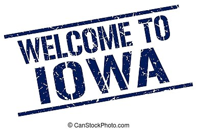 welcome to Iowa stamp