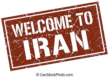 welcome to Iran stamp