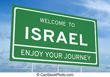Welcome to Israel concept