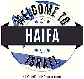 welcome to israel HAIFA usa flag icon