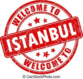 Welcome to Istanbul vector stamp