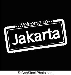 Welcome to Jakarta city illustration design