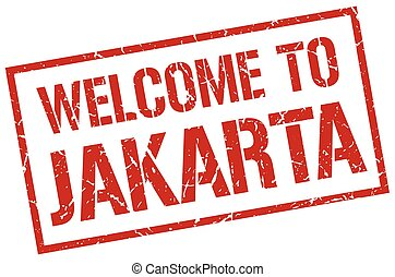 welcome to Jakarta stamp