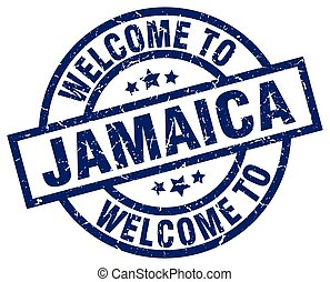 welcome to Jamaica blue stamp