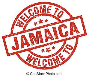 welcome to Jamaica red stamp