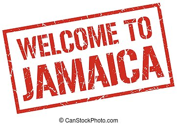 welcome to Jamaica stamp