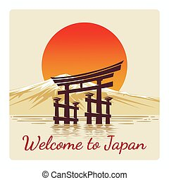 Welcome to Japan retro poster