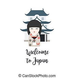 Welcome to Japan vector illustration